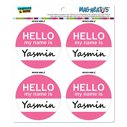 yasmin-hello-my-name-is-mag-neatostm-automotive-car-refrigerator-locker-vinyl-magnet-set