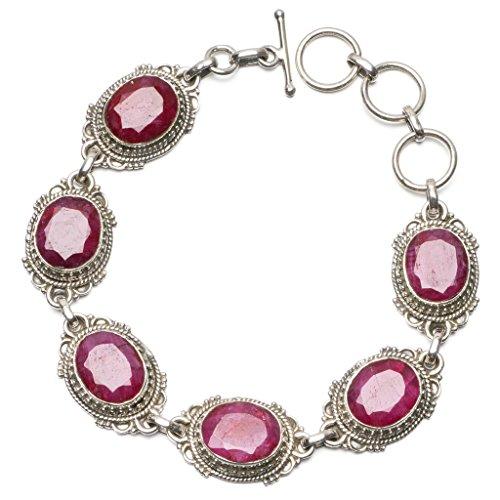 stargems-tm-ciliegio-naturale-rubino-braccialetto-in-argento-sterling-925-7-8-