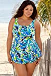 Maxine of Hollywood Maxine Blue Floral Fantasy Plus Size
