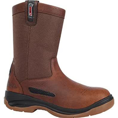 "Rocky Men's 10"" ErgoTuff COOLMAX®Composite Toe Wellington Boot-6426 (W8)"