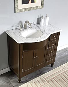 38 Bathroom Vanity Marble Top Left Side Sink Cabinet 902wl Vanity Sink Top Left Side Bowl