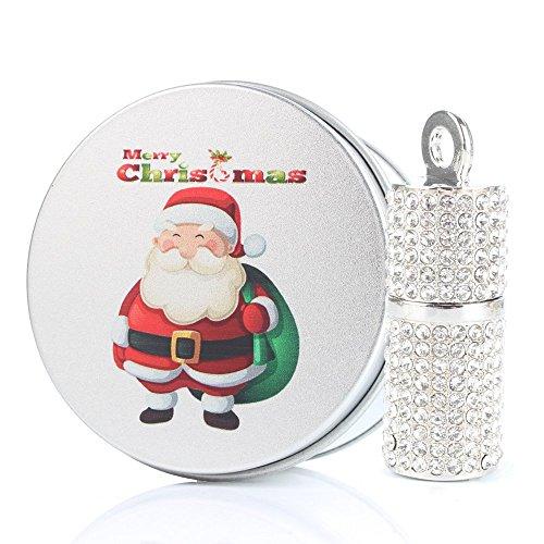 Anvor® Gioielli in argento cristallo Memoria 32 GB CHIAVETTA USB 2.0 - Babbo Natale