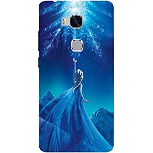 Casotec Frozen Palace Design Hard Back Case Cover for Huawei Honor 5X