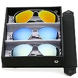 zeroUV - Premium Full Mirrored Aviator Sunglasses w/ Flash Mirror Lens (3-Pack Deluxe Silver   Orange + Blue + Yellow)