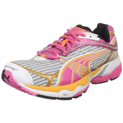 PUMA Women's Complete Ventis 2 Running Shoe, White/Silver/Shocking Pink, 7 B US