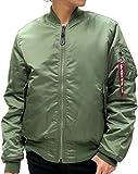 (アルファ インダストリーズ) ALPHA INDUSTRIES フライトジャケット メンズ MA-1 タイトシルエット 細身 6color S モスグリーン