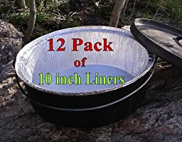 Disposable Foil Dutch Oven Liner, 12 Pack 10\