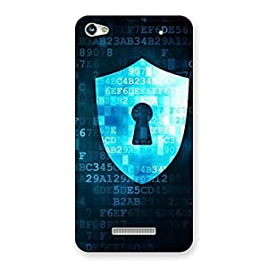 Digital Secure Print Blue Back Case Cover for Micromax Hue 2