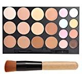 Five Bull 20 Color Face Cream Concealer Camouflage Foundation Palette Professional Makeup Kit Set With Make Up Brushes (20 Color)