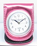 Metallic Cerise Folding Travel Alarm Clock