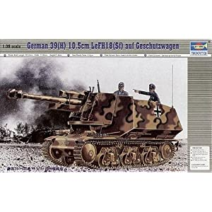 German 39H Tank w-105mm LeFH18 Gun w-Added Superstructure Model Kit by Trumpeter