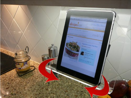 The Swivel Patented Kitchen IPad Rack / Holder For All IPads, Tablet PCu0027s  And Cookbooks Too Electronics Computers Computer Components Computer Racks  Mounts