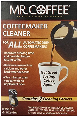Mr. Coffee Coffeemaker Cleaner - For All Automatic Drip Units, 2 Packets - Set of 2 (Total 4 Packets) (Coffee Maker Cleaners compare prices)