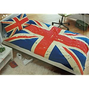 Housse de couette avec le drapeau anglais deco londres for Housse de couette drapeau anglais