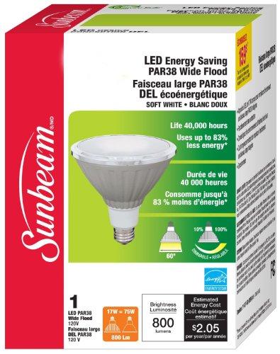 Sunbeam High Performance Par38 Led Bulb, 17 Watts (Equivalent To 60 Watts)