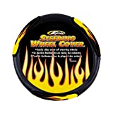 51027A8D8RL. SL160  Epic Style Yellow Flames Steering Wheel Cover