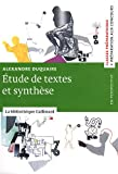 echange, troc Alexandre Duquaire - Etude de texte et de synthèse