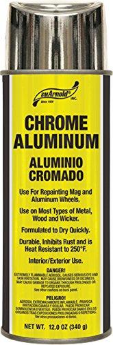 SM Arnold (66-106) Lacquer Spray Paint, Chrome Aluminum Lacquer - 12 oz. (Chrome Wheel Touch Up Paint compare prices)