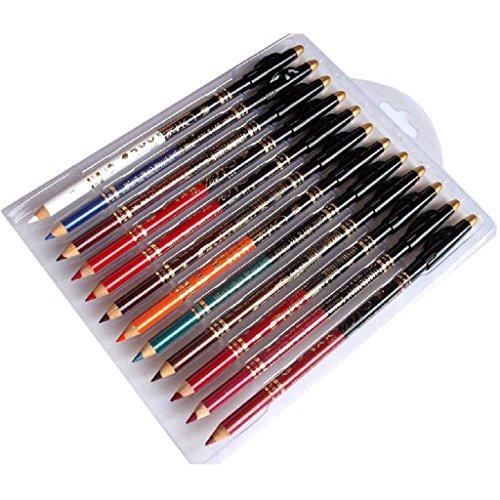 Internet 12PCS / set étanche Maquillage Lip Liner Pencil Pen rouge à lèvres cosmétique