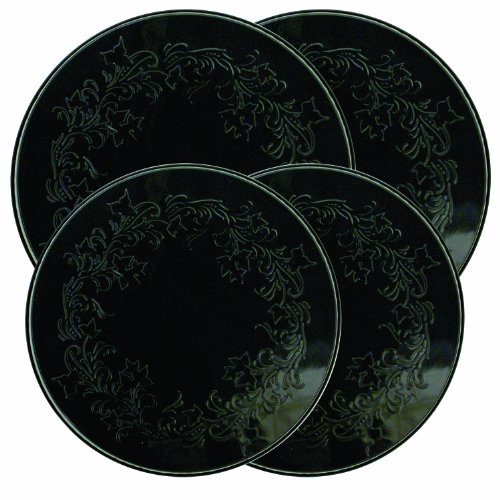 Range Kleen 5056 Embossed Burner Kover, Black, Set of 4