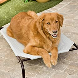 Coolaroo Deluxe Dog Bed - Grey Size - Medium - 43.4L x 25.6W x 8H in.