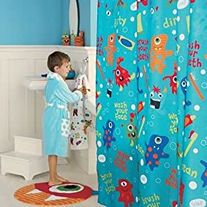 Kids Fabric Shower Curtain Monster Home Kitchen