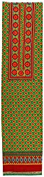 HARRA Women's Cotton Unstitched Dress Material(NAINA- 0649, Green)