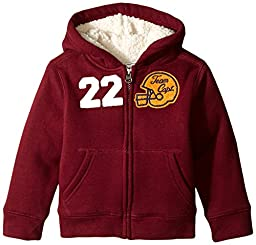 The Children\'s Place Little Boys\' LB Sherpa Hoodie, Redwood, 2T