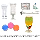 AsianHobbyCrafts Candle Making Kit Contents: Transparent Gel Candle Wax, Wax Colors, Candle Wicks, Acrylic Candle...