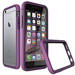 iPhone 6s Plus Case [Purple] RhinoShield CrashGuard Bumper [11 Ft Drop Tested] NO BULK [EggDrop Technology] Thin Lightweight Protection [Includes FREE Back Transparent Skin] Also fits iPhone 6 Plus