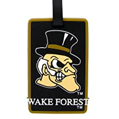 Buy Wake Forest Demon Deacons - NCAA Soft Luggage Bag Tag by aminco