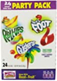 General Mills Party Pack, Fruit Fusion Assorted Flavors, 24 count, 9.96 oz, (Pack of 3)