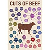 (24x36) Cuts of Beef Art Print Poster