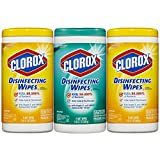 Clorox Disinfecting Wipes Value Pack, Fresh Scent and Citrus Blend, 225 Count (Packaging May Vary)