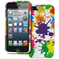 EMPIRE Apple IPhone 5 Hard Cover White Paint Splatter Design Hard Cover Case