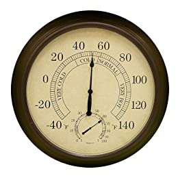 Outdoor Thermometer From Target Wireless Iron Outdoor Decor