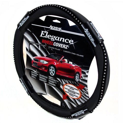 Alpena 10403 Black Bling Steering Wheel Cover (Steering Wheel Cover With Bling compare prices)