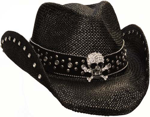 peter-grimm-ltd-womens-crystal-skull-straw-hat-black-one-size