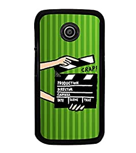 iFasho movie shoots action Back Case Cover for Moto E