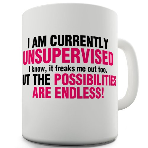 I Am Currently Unsupervised Joke Funny Coffee Mug