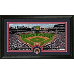 MLB Atlanta Braves Infield Dirt Coin Panoramic Mint Photo by Bullion International