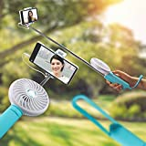 3 in1 Selfie Stick with Fan and Power Bank (PINK)