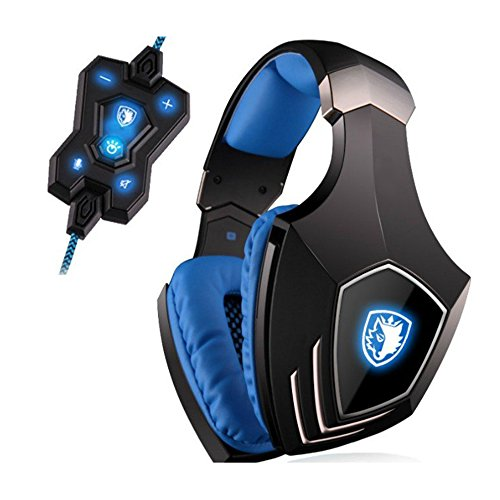 MOSTOP® Alloy Stereo 7.1 Surround Pro Gaming Headphone USB Over Ear with Microphone 3 Colors LED