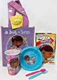 Bundle - 5 Items: Doc McStuffins Bowl, Spoon and Fork, Cup, Play Pack Grab & Go, and Small Tote