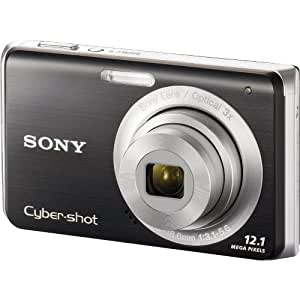 Sony Cybershot DSC-W190 12.1MP Digital Camera with 3x Super Steady Shot Stabilized Zoom and 2.7 inch LCD (Black)