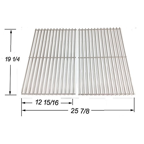 Stainless Steel Cooking Grid Replacement for Select Gas Grill Models by Jenn-Air, Nexgrill and Others, Set of 2