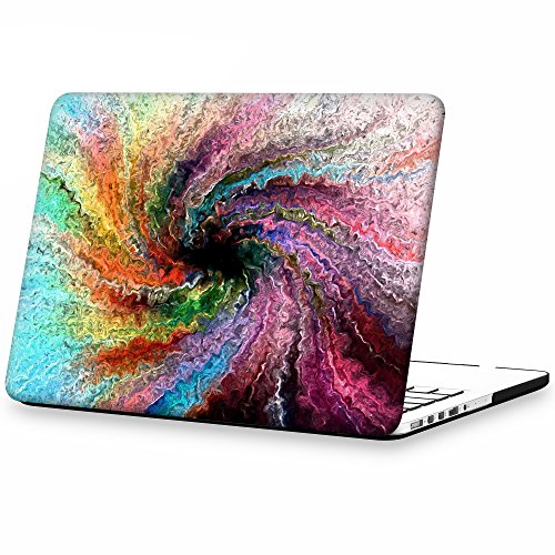 iCasso Macbook Retina 13 Inch Case Hard Shell Protective Case Cover For Apple Macbook Laptop Pro 13 Inch Retina Model A1425/A1502 - Colorful swirl (Macbook Pro 13 In Cover compare prices)