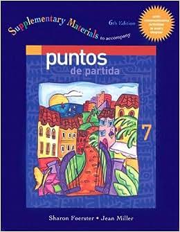 () : CPSJ Supplementary Material t/a Puntos de Partida 6th Edition
