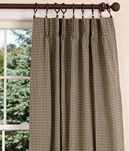 Amazon Com Colebrook Lined Pinch Pleat Curtains 58 Inch
