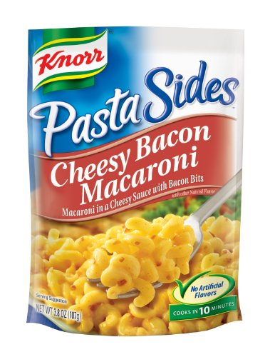 Knorr Pasta Sides, Cheese Bacon Macaroni, 3.8-Ounce Pouches (Pack Of 12)